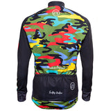 Hackney GT Camo winter cycling jacket rear