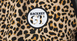 Hackney GT leopard print winter jacket badge
