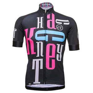 Hackney GT Typo cycle jersey front