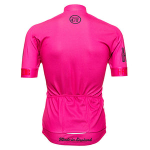 Hackney GT hot pink cycle jersey back
