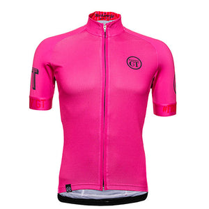 Hackney GT Hot pink cycle jersey front