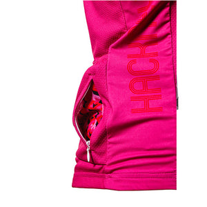 Hackney GT hot pink cycle jersey side pocket