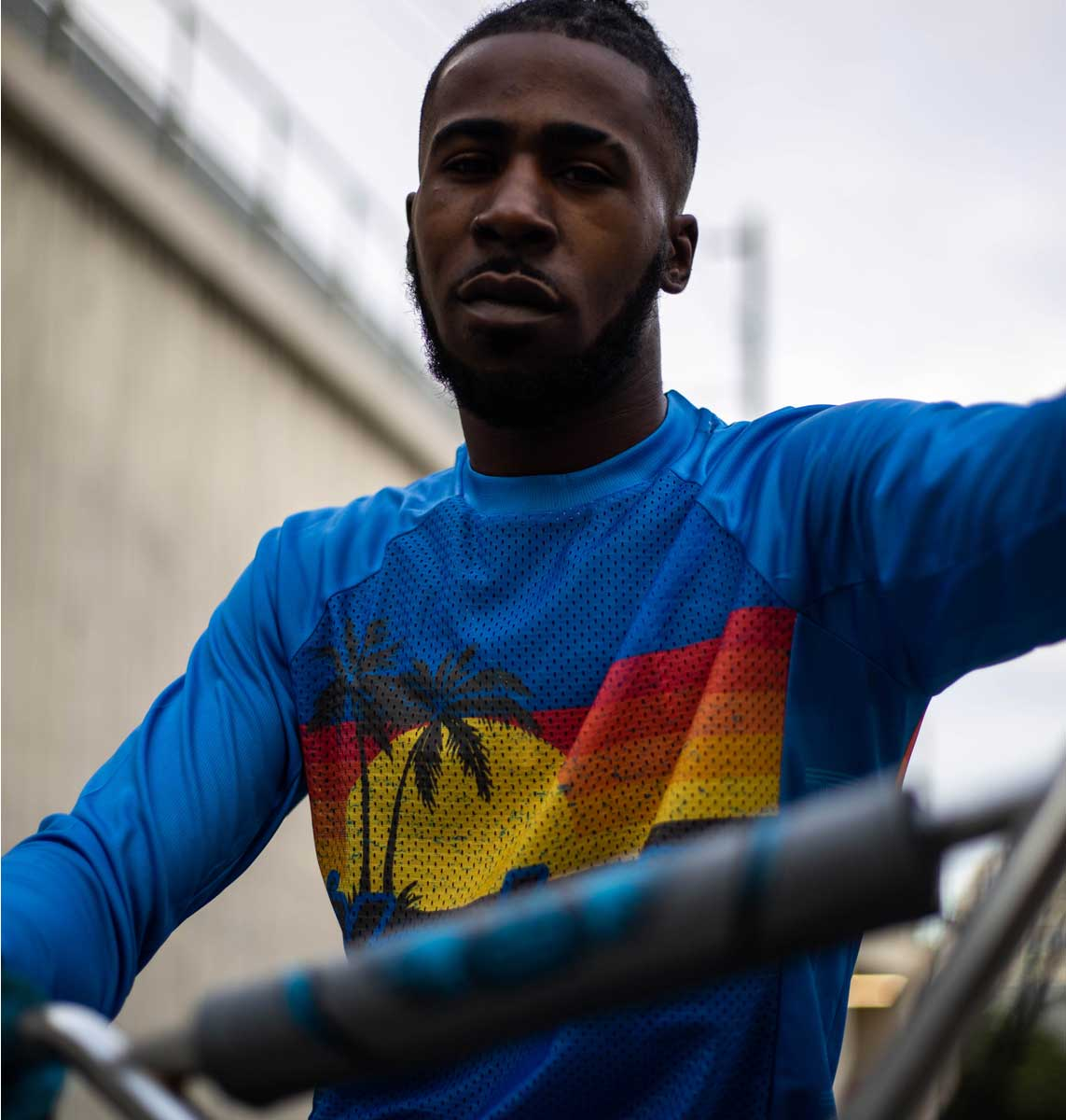 Hackney GT Palms MTB Jersey front Tyree