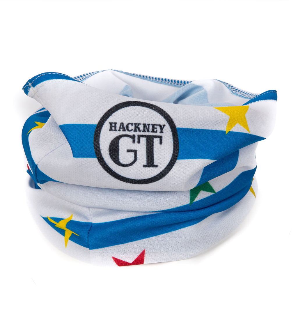 Hackney GT Stars and Stripes recycled neck warmer