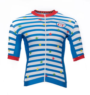 Stars and Stripes short sleeve 100% lycra cycle  jersey