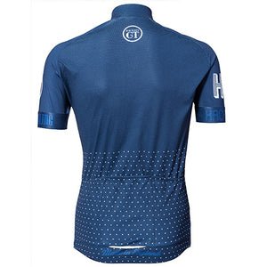 Hackney GT Trackster Blue short sleeve cycle jersey back