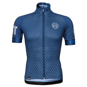 Hackney GT Trackster Blue short sleeve cycle jersey