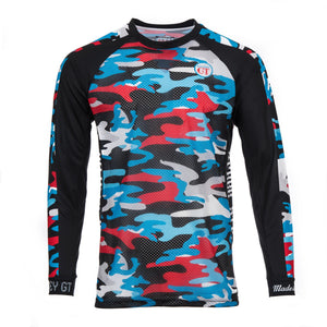 Mountain bike top Hackney GT Royal Camo MTB MX BMX long sleeve jersey
