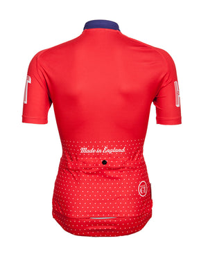 Hackney GT Trackster Red cycle jersey back