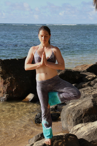 Custom Hand-Dyed Wave Yoga Pants