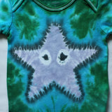 Custom Hand-Dyed Sea Star Onesie