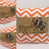 135 Fall and Football Pillow Wraps