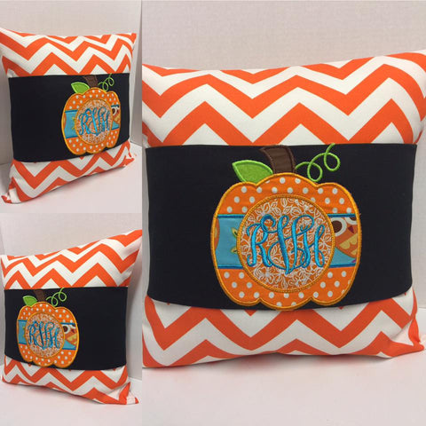 145 Monogram Pumpkin Pillow Wraps