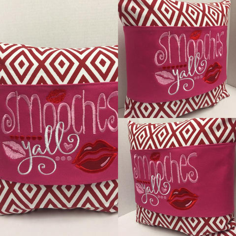 121 Valentine's Smooches Y'all Pillow Wraps