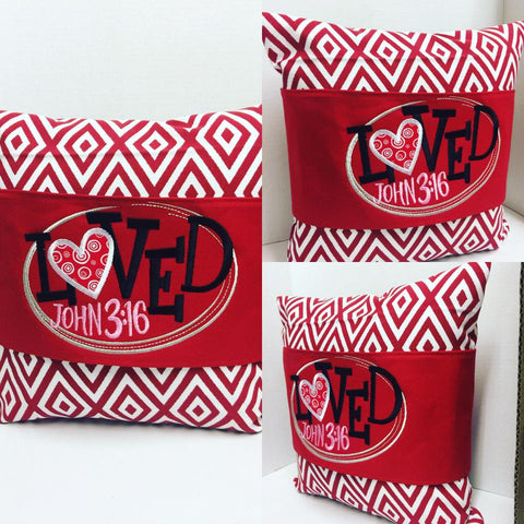 120 Valentine's John 3:16 Pillow Wraps