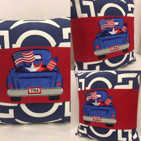 118 4th of July Truck Pride Pillow Wraps