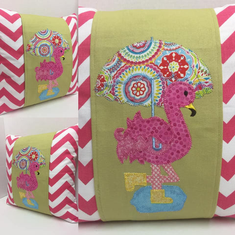 128 For the Love of Flamingo's Pillow Wraps