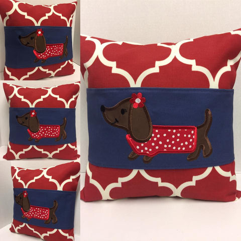 124 Daisy Dachshund Pillow Wraps