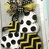 Bumble Bee Wooden Door Hanger