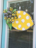 Lemon Wooden Door Hanger
