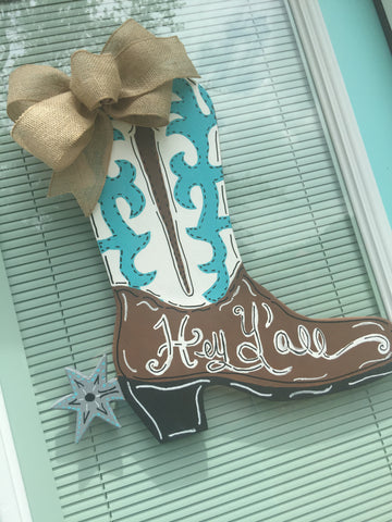 Boot Wooden Door Hanger
