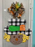 Mr Scarecrow Wooden Door Hanger