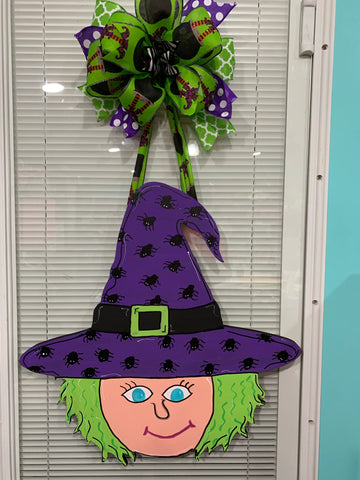 Witch Witch Wooden Door Hanger