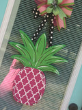 Pineapple Wooden Door Hanger
