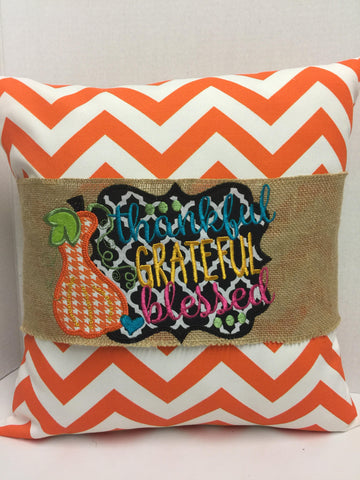 130 Thankful Grateful Blessed Pillow Wraps