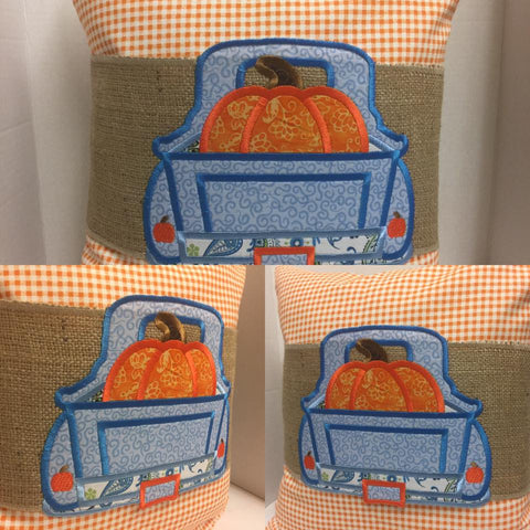 123 Pumpkin Trucking Pillow Wraps