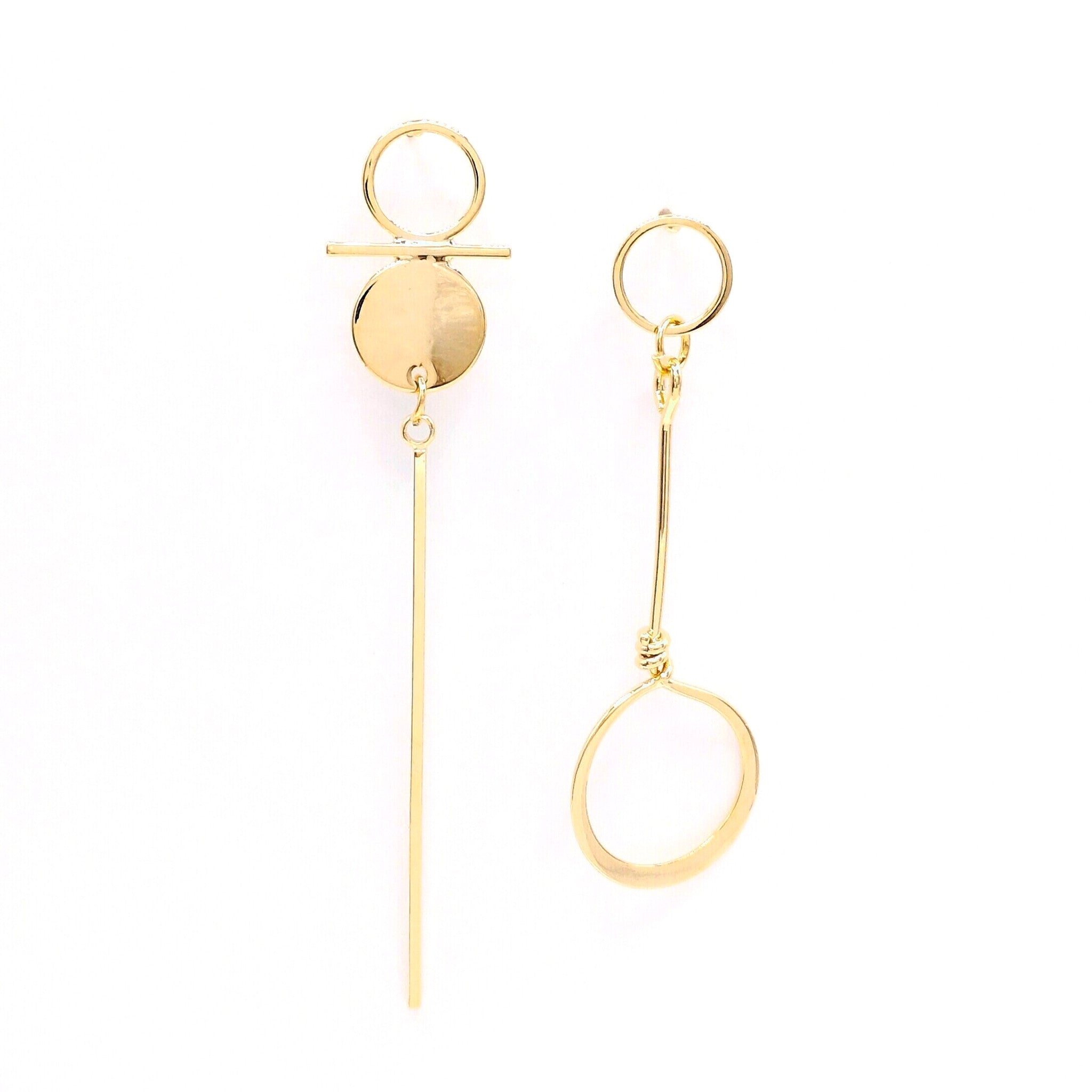 normal none metallic maria lyst in asymmetric jewelry pepe francesca gallery product earrings