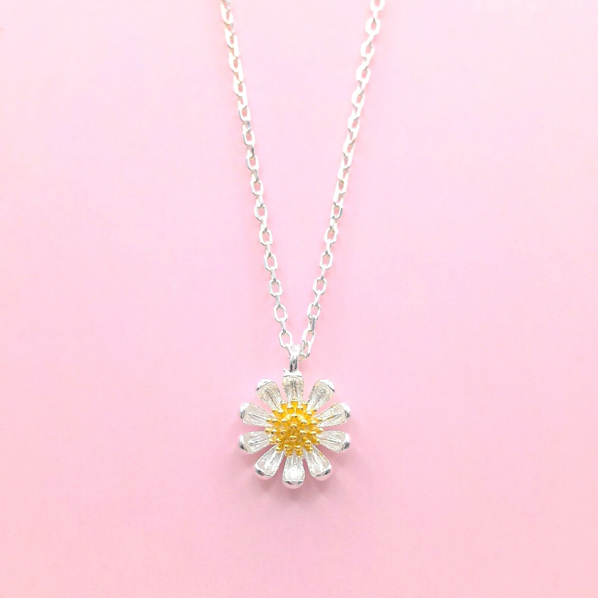 products in photo yellow daisy necklace of kyleemae copy flower pressed bezel designs brass antique