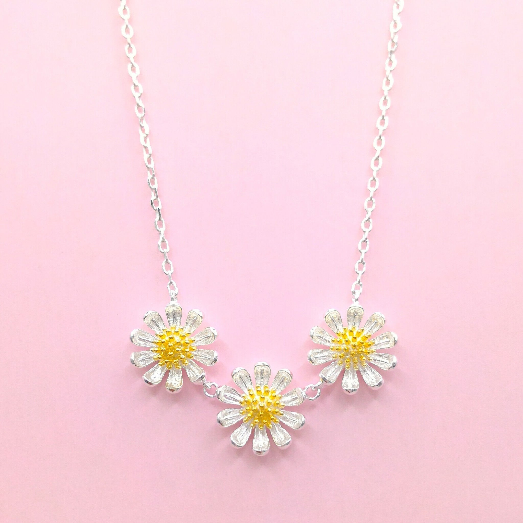 and jewelry accessories daisy retro necklace vintage