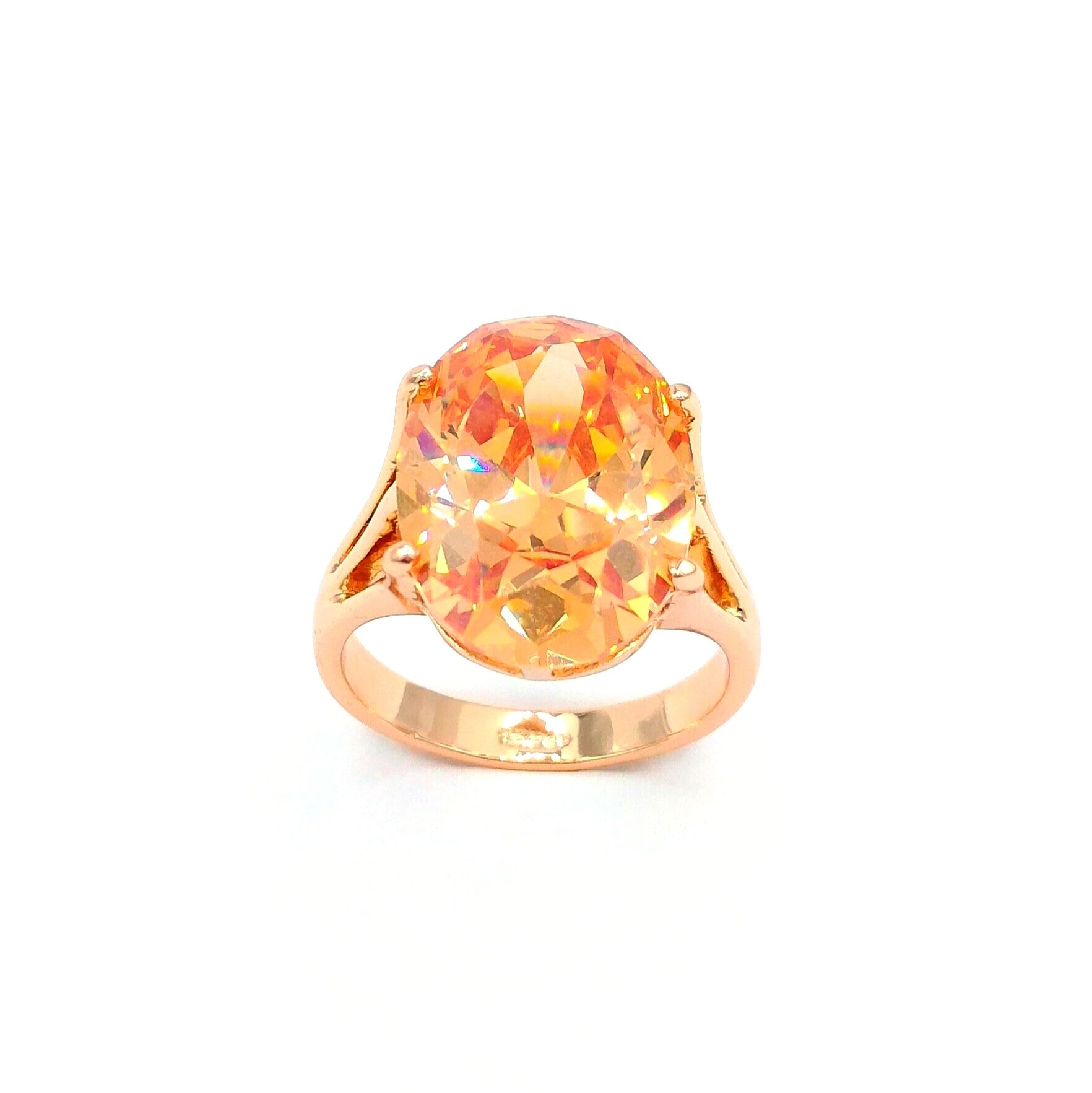 foil products ring amber cut gold engagement diamond antique rings backed georgian rose flower