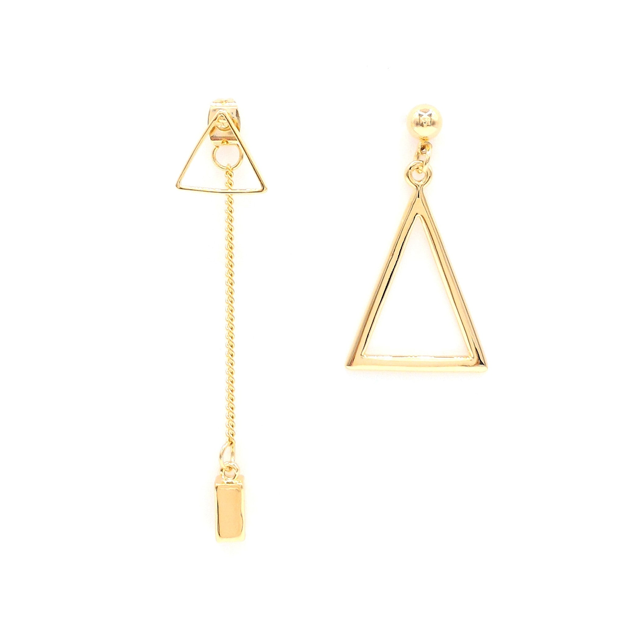 pk gold products outline asymmetric sapphireonline store earrings