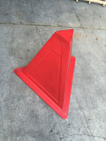 Safety Mine Triangle Sign