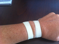 Watch video to learn how to tape your wrist for testing.