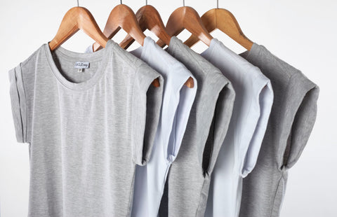 Grey white tops
