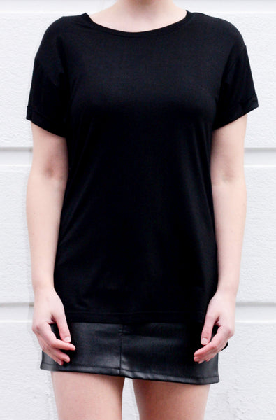 CLEO bamboo crew neck tee - Uncle May Women Basics Clothing Natural Fabrics Melbourne