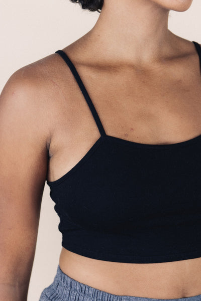 MIA black cotton bralette - Uncle May Women Natural Fabrics Basics Clothing Melbourne