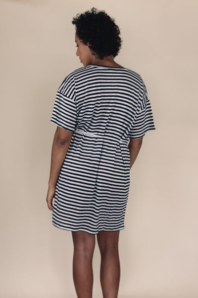 STEVIE Stripe Shift Dress - Uncle May Women Natural Fabrics Basics Clothing Melbourne
