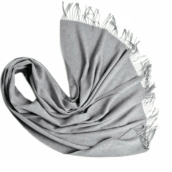 LOLA grey wool scarf - Uncle May Women Natural Fabrics Basics Clothing Melbourne