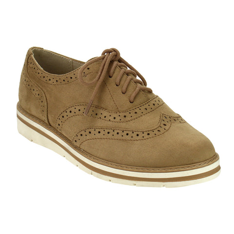 Soda IG04 Perforated Wingtip Stitched Oxfords