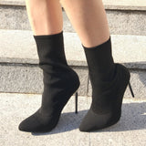 Beston EJ68 Stretchy Ankle Sock Booties Half Size Small