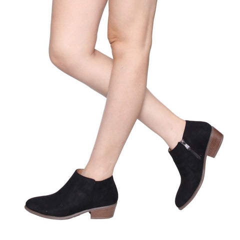 Beston DE47 Stacked Heel Ankle Booties