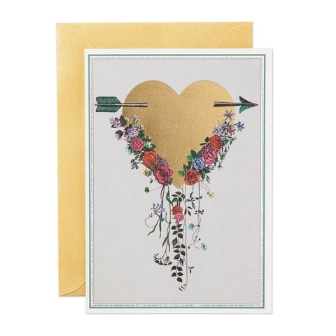 Gold Heart Greeting Card