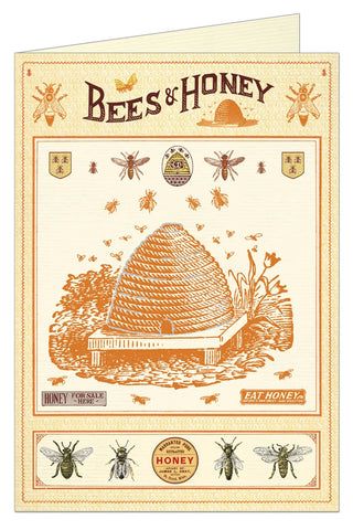 Bees and Honey Greeting Card