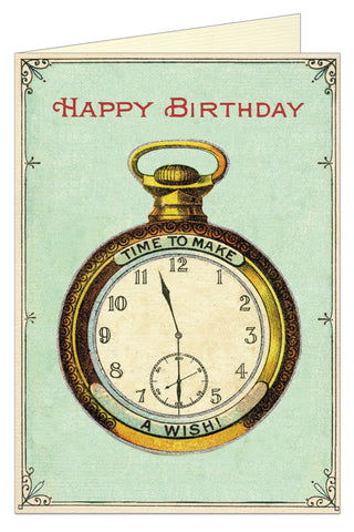 Happy Birthday Watch Greeting Card