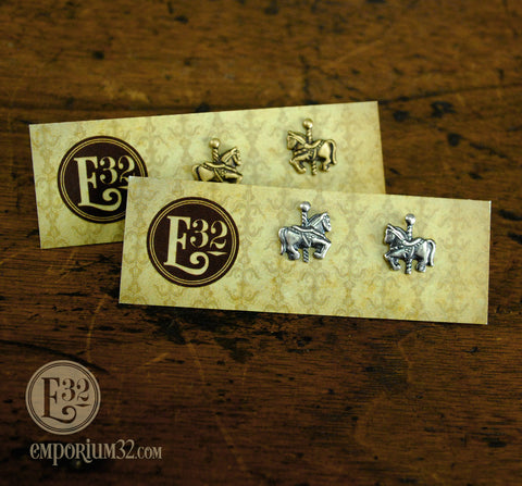 Carousel Horse Stud Earrings