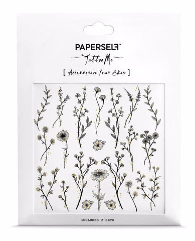 Wildflower Temporary Tattoos